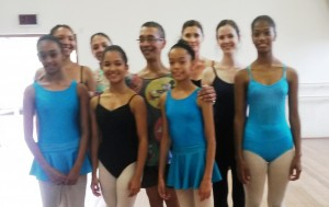 Vincent with some of the dancers